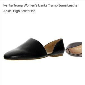 Ivanka Trump Euma black leather ballet flat size 7